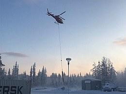 Geborgene Rakete am Hubschrauber (Bild: Airbus)