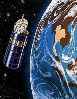 Thaicom 2 über der Erde - Illustration (Bild: Boeing)