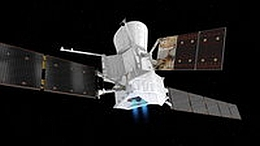BepiColombo in Flugkonfiguration (Bild: ESA)
