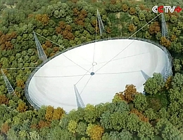 Teleskop FAST in China - Modelldarstellung (Bild: CCTV)