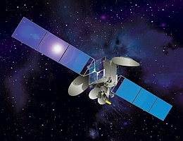 Asiasat 5 im All - Illustration (Bild: Space Systems/Loral (SS/L))