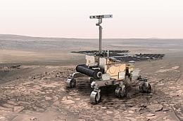 Eine künstlerische Darstellung des zukünftigen Marsrovers ExoMars. (Bild: ESA)