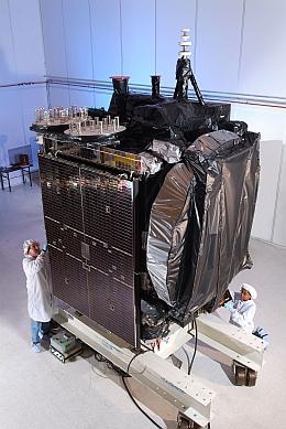 Galaxy 15 beim Hersteller (Bild: Orbital Sciences Corporation (OSC))