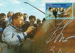Fotopostkarte mit Sondermarke und Sonderstempel - Zum 10. Jahrestag des Weltraumflugs UdSSR - DDR (Bild: Andreas Weise)