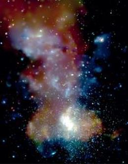 Das Zentrum der Milchstraße. (Bild: Chandra X-Ray observatory)