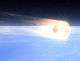 Dragon-Rückkehrkapsel beim Wiedereintritt - Illustration (Bild: SpaceX)