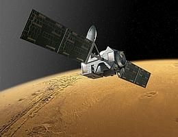 Eine künstlerische Darstellung des Trace Gas Orbiters. (Bild: ESA)