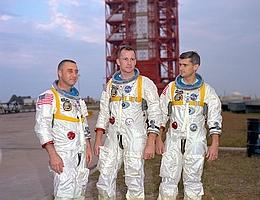 Die Crew von Apollo 1: Gus Grissom, Edward White und Roger Chaffee. (Bild: NASA)