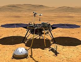 Die NASA-Sonde InSight auf dem Mars. (Bild: NASA/JPL-Caltech)