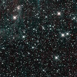Das letzte Bild von WISE, 1. Februar 2011: Ein Abschnitt der Milchstraße mit dem Sternbild Perseus oben links (Bild: NASA/JPL Caltech/UCLA)