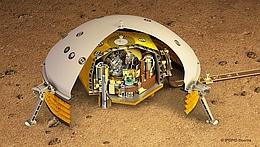 SEIS-Experiment zur Aufzeichnung von Marsbebenwellen. (Bild: NASA/JPL-Caltech/CNES/IPGP)
