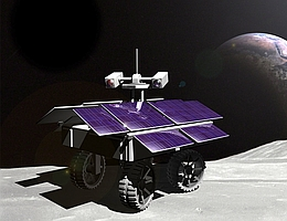 Der Rover Asimov 1 funkt zur Erde - Illustration. (Bild: Part Time Scientists)