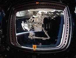 Bartolomeo-Plattform aus der ISS gesehen. (Bild: NASA)