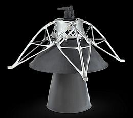 3D-gedruckte Halterung stützt das Triebwerk der Mondlanders - Illustration