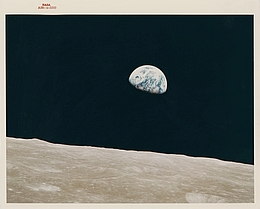 First Earthrise seen by human eyes, Apollo 8, 24 December 1968