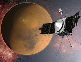 MAVEN und der Mars - Illustration