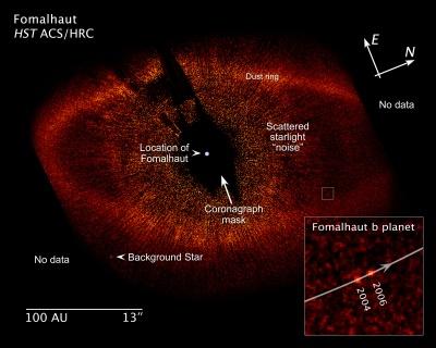 Staubscheibe und Planet um den Stern Fomalhaut