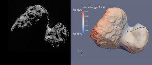 ESA, Rosetta, NAVCAM(links); ESA, Rosetta, VIRTIS, INAF-IAPS, OBS DE PARIS-LESIA, DLR (rechts)