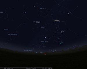 Screenshot aus Stellarium ; www.stellarium.org