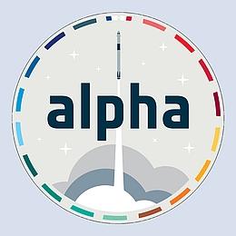Missionslogo der ESA-Mission Alpha. (Bild: ESA)