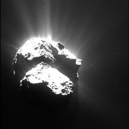 Der Komet 67P/Tschurjumov-Gerassimenko am 26. Juli 2015. (Bild: ESA/Rosetta/MPS for OSIRIS Team MPS/UPD/LAM/IAA/SSO/INTA/UPM/DASP/IDA )