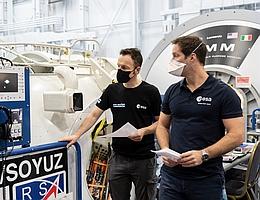 Matthias Maurer und Thomas Pesquet. (Bild: ESA/NASA)