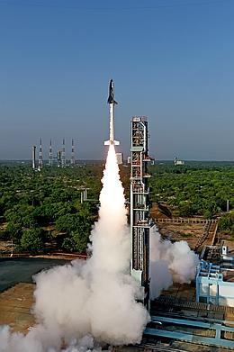RLV-TD-Start am 23. Mai 2016 (Bild: ISRO)