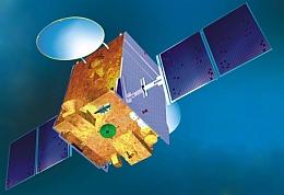GSAT 5P im All - Illustration (Bild: ISRO)