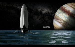 Raumschiff auf Europa (Bild: SpaceX)
