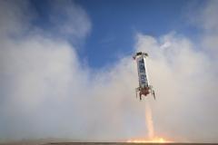 New Shepard im Landeanflug (Bild: Blue Origin)