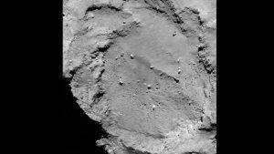"""Die Landestelle """"B"""" befindet sich auf dem 'Kopf' des Kometen. Auch diese Aufnahme entstand - wie auch die weiter unten gezeigten Aufnahmen der weiteren Kandidaten - am 16. August 2014. (Bild: ESA, Rosetta, MPS for OSIRIS-Team MPS, UPD, LAM, IAA, SSO, INTA, UPM, DASP, IDA)"""