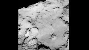 """Die potentielle Landestelle """"C"""" befindet sich auf dem 'Körper' des Kometen. (Bild: ESA, Rosetta, MPS for OSIRIS-Team MPS, UPD, LAM, IAA, SSO, INTA, UPM, DASP, IDA)"""