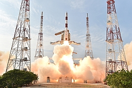 PSLC-C32-Start am 10. März 2016 (Bild: ISRO)