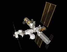 Gateway mit Orion - Illustration. (Bild: ESA)