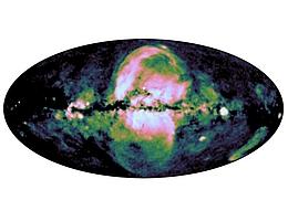 Die eROSITA-Blasen. (Bild: MPE/IKI)