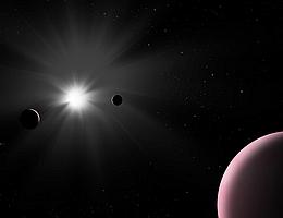 Künstlerische Darstellung des Nu2 Lupi Planetensystems. (Bild: ESA)