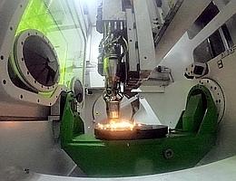 3D-Druck von Metall im DED-Verfahren. (Bild: MT Aerospace AG)