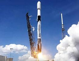24. Start von Starlink-Satelliten. (Bild: Webcast SpaceX)