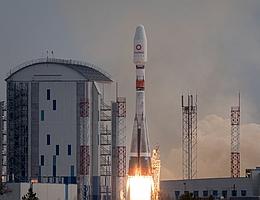 Sojus-Start für die Mission OneWeb F6. (Bild: Glavkosmos)