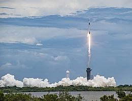 Liftoff für die Versorgungsmission CRS-22 auf Falcon 9, welche ihren 120. Start absolvierte. (Bild: NASA via SpaceX)