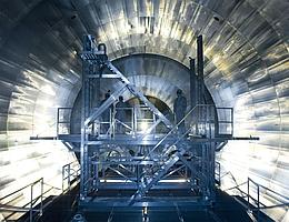 Das Neutrino Experiment KATRIN auf dem Campus Nord des KIT. (Bild: KIT)