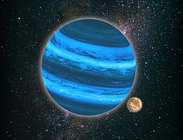 Auf Monden freischwebender Planeten kann flüssiges Wasser existieren. (Bild: Tommaso Grassi/LMU)