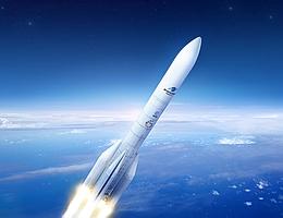 Ariane 6 im Flug - künstlerische Darstellung. (Bild: ArianeGroup / Pagecran)