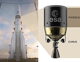 """In der Technologieentwicklung PHOEBUS für die künftige, optimierte Ariane-6-Oberstufe namens """"Icarus"""" setzt man voll auf CFK. (Bild: ArianeGroup)"""