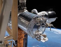 Blick auf Bartolomeo vom Truss aus. (Bild: NASA)