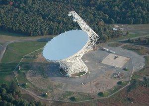 Bereich des Green-Bank-Observatoriums aus der Luft (Foto: NRAO/AUI)