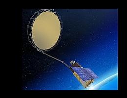 Künstlerische Darstellung eines CIMR-Satelliten. (Bild: TAS)