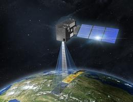 CO2M-Satellit über der Erde - Illustration. (Bild: OHB)