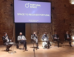 """""""Space in the Recovery of Portugal and Europe"""" in Lissabon. (Bild: Rocket Factory Augsburg)"""