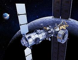 Künstlerische Darstellung des Lunar Gateways. (Bild: TAS - E. Briot)